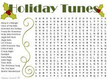 Christmas Word Search - Christmas Songs