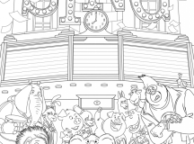 Free Sing Coloring Pages