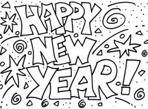 Fun Happy New Year Coloring Pages