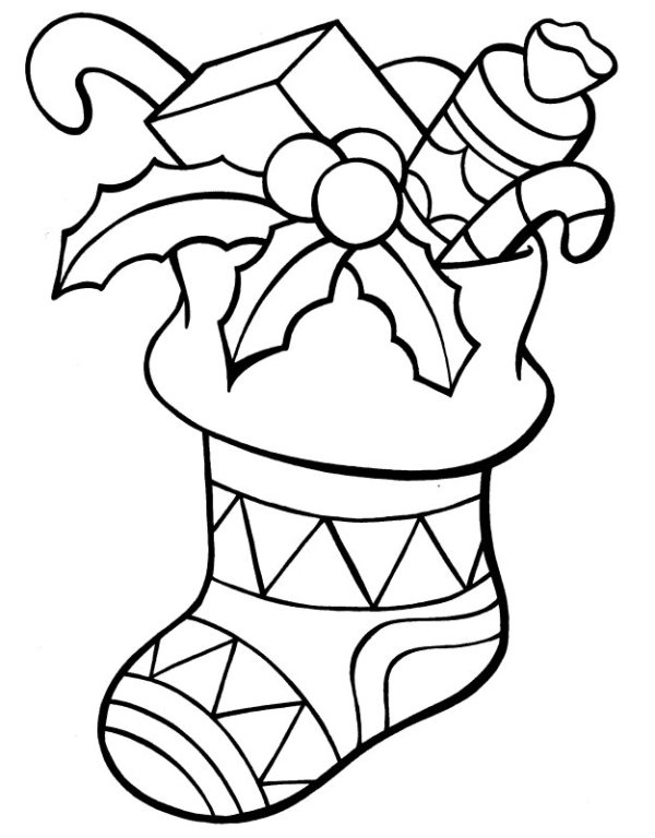 stocking coloring pages # 17
