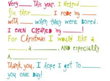 Letter to Santa - Fill in the Blanks