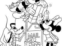 Mickey Mailing Presents Coloring Pages