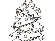 Presents under the Tree Coloring Page