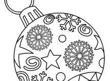 Printable Christmas Ornament Coloring Page