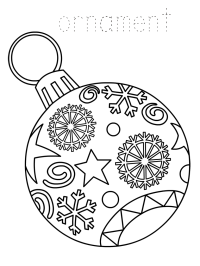 Christmas Ornament Coloring Pages - Best Coloring Pages ...
