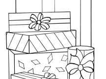 Wrapped Presents Coloring Page