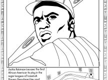 Black History Month Coloring Pages - Jackie Robinson