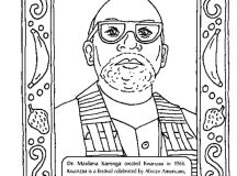Black History Month Coloring Pages - Kwanzaa Maulana Karenga