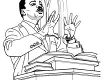 Black History Month Coloring Pages - Martin Luther King Jr