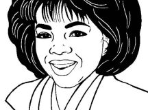 Black History Month Coloring Pages - Oprah Winfrey