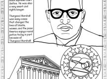 Black History Month Coloring Pages - Thurgood Marshall