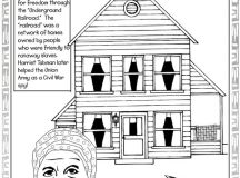 Black History Month Coloring Pages - Underground Railroad