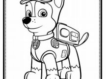 Chase - Paw Patrol Coloring Pages