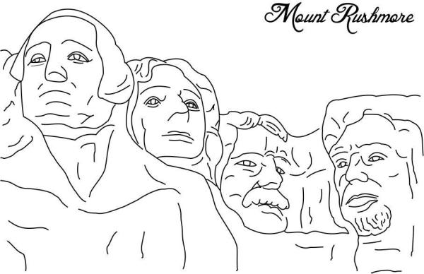 20 Mount Rushmore Coloring Ideas And Designs