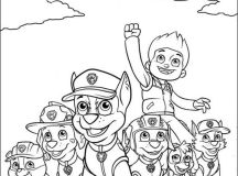 Print Paw Patrol Coloring Page