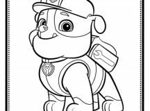 Rubble - Paw Patrol Coloring Pages