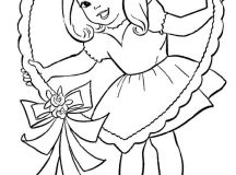 Valentines Day Coloring Pages - Girl