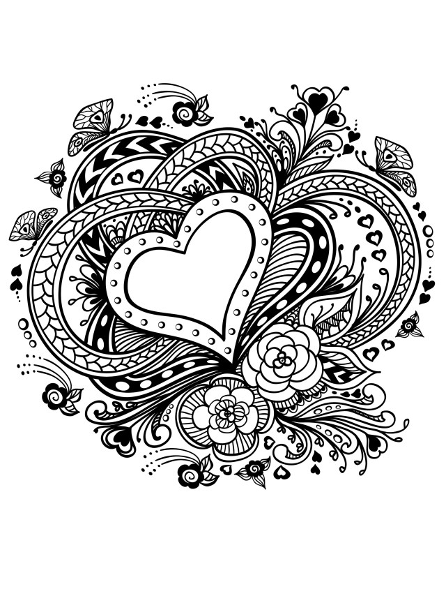 Valentines Day Coloring Pages for Adults - Best Coloring Pages For