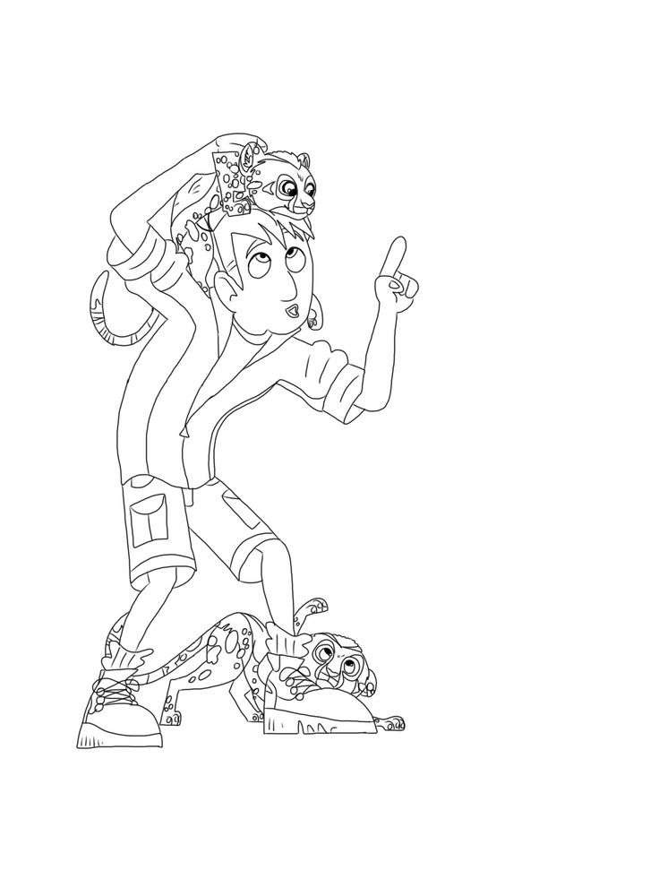 Amazing! Wild Kratts Coloring Pages
