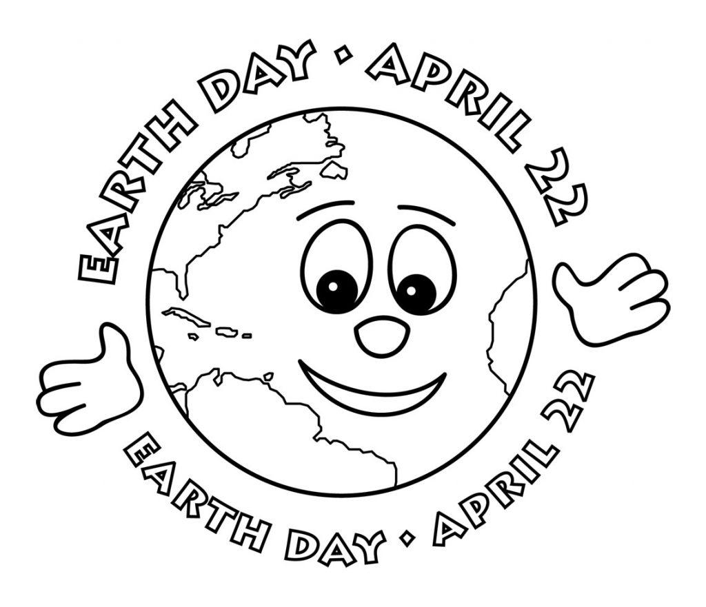 Earth Coloring Worksheet For Preschoolers