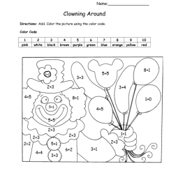 Color by Number Addition - Best Coloring Pages For Kids [ 1024 x 791 Pixel ]