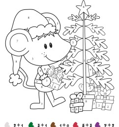 Color by Number Addition - Best Coloring Pages For Kids [ 1600 x 1131 Pixel ]