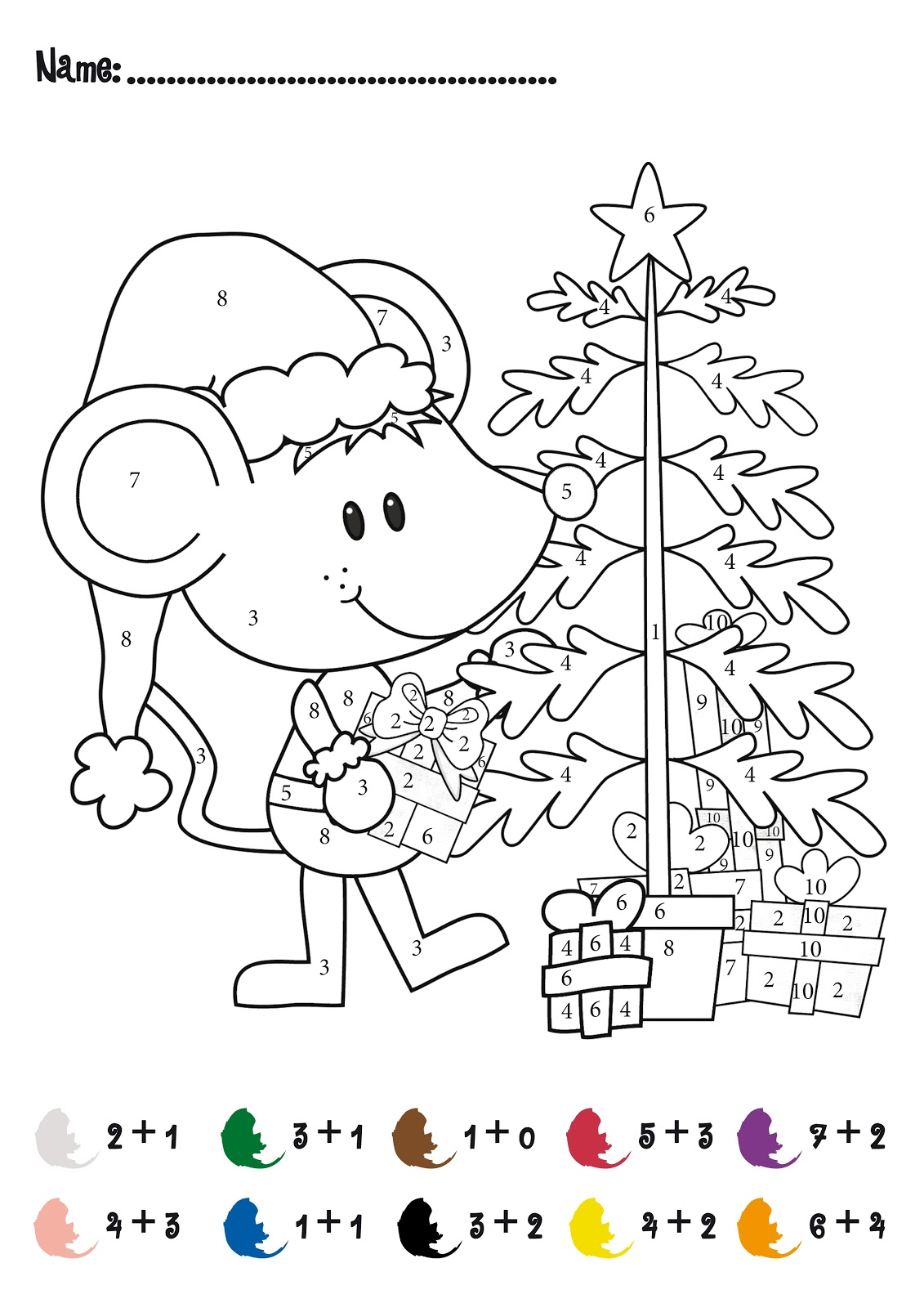 hight resolution of Color by Number Addition - Best Coloring Pages For Kids