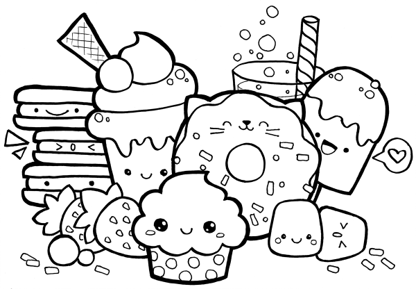 Coloriage Hamster Kawaii.20 Squshys For Girls Coloring Pages 7 And Up Ideas And Designs