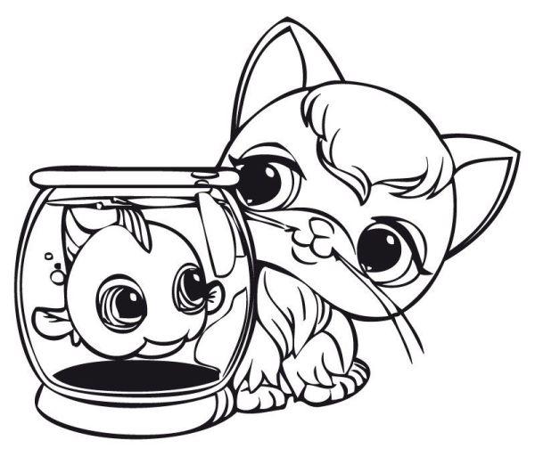 littlest pet shop ausmalbilder # 4