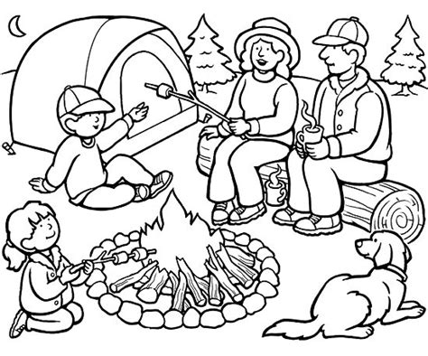 camping coloring page # 3