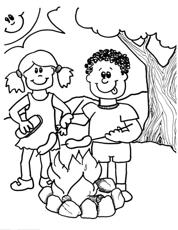 camping coloring page # 11