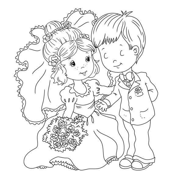 wedding coloring page # 4