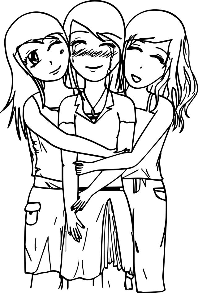 Best Friends Coloring Pages - Best Coloring Pages For Kids