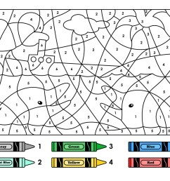 Easy Color by Number for Preschool and Kindergarten [ 1081 x 1400 Pixel ]