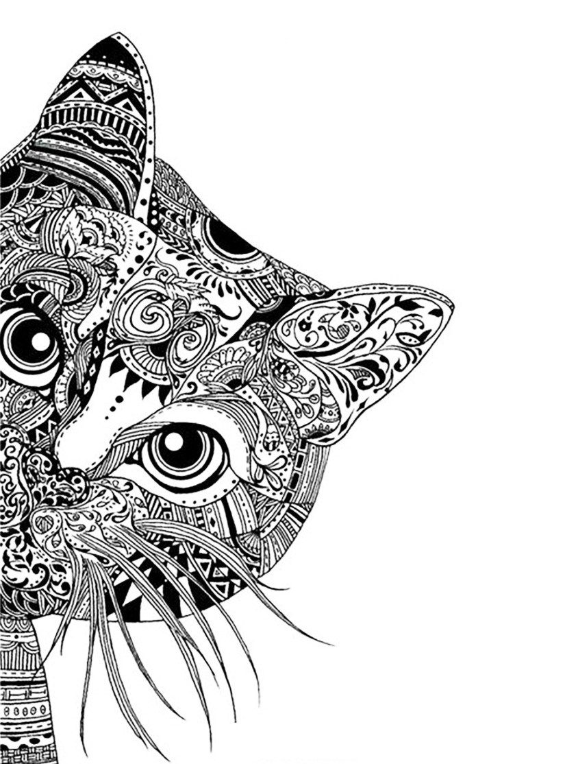 complex coloring pages for teens and adults - best coloring