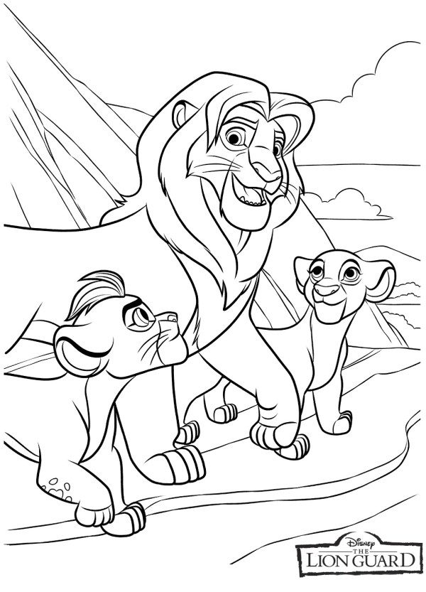 lion king coloring page # 4