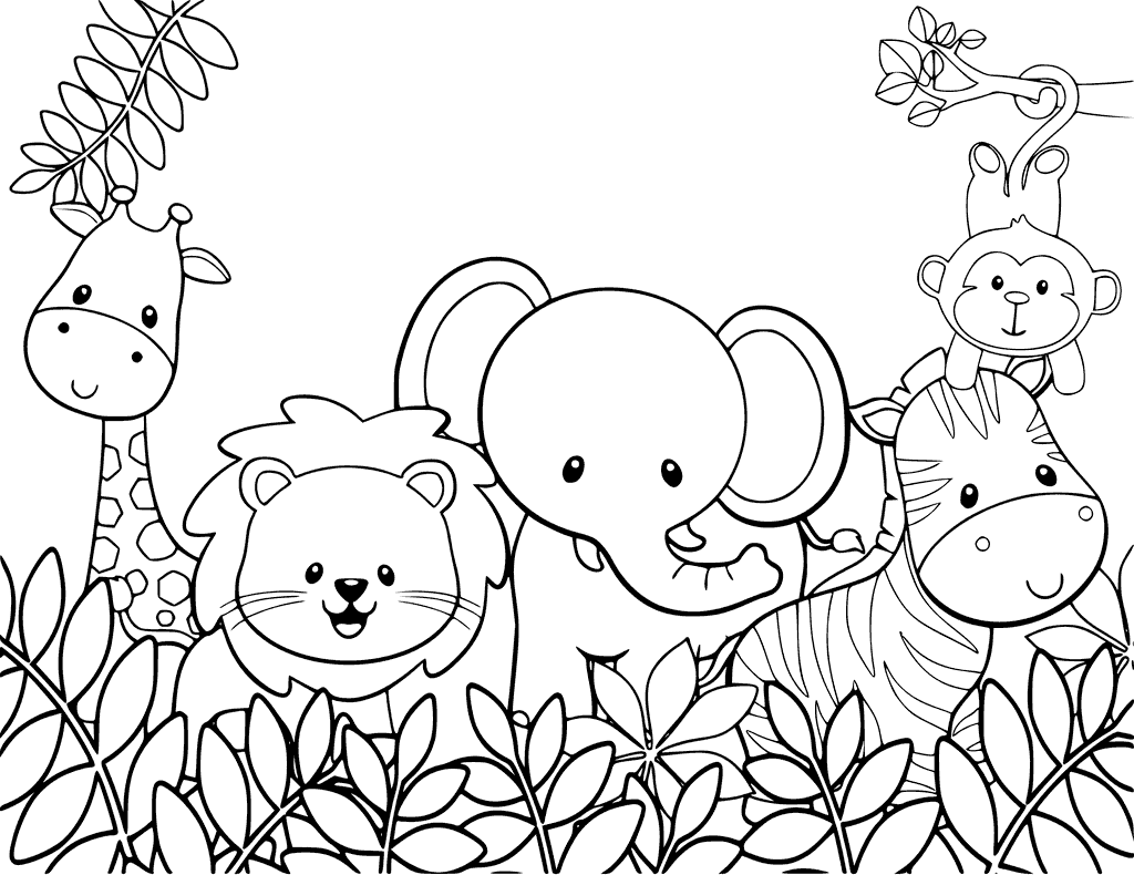 Worksheet Color Animals