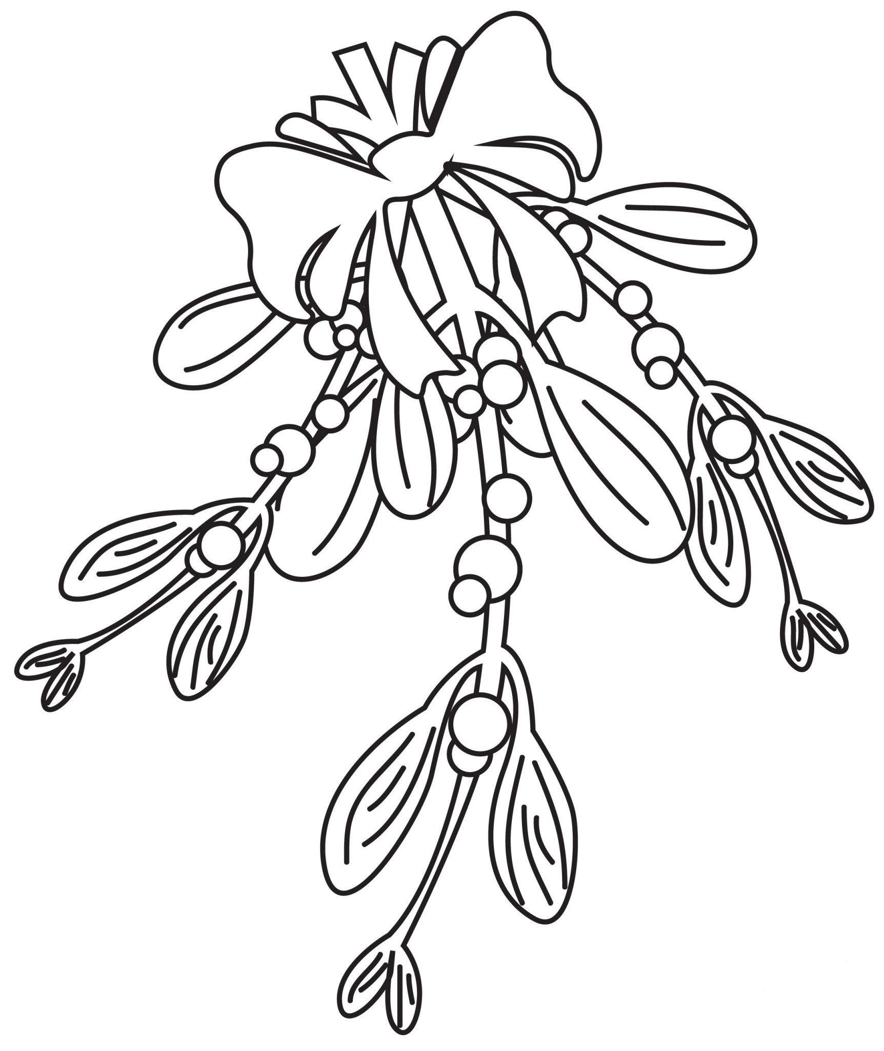 Mistletoe Coloring Pages