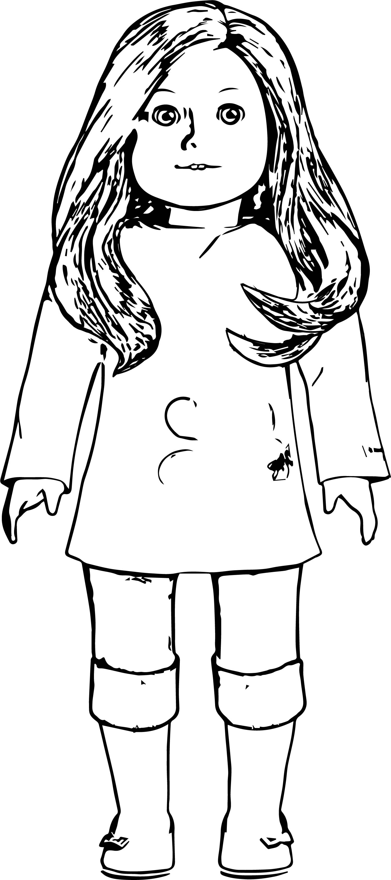 American Girl Mckenna coloring page | Free Printable Coloring Pages | 3370x1498