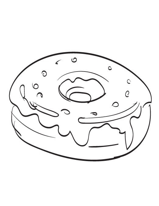 Donut Box Coloring Pages Sketch Coloring Page