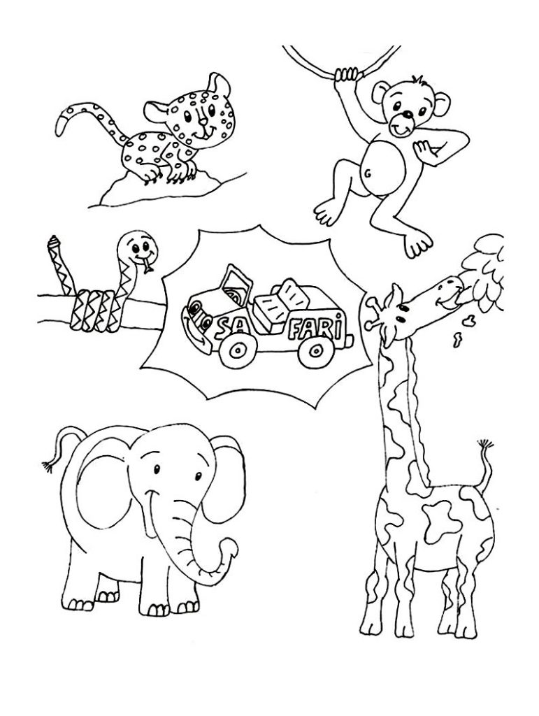 Wild Animal Coloring Pages - Best Coloring Pages For Kids | animal coloring pages for toddlers