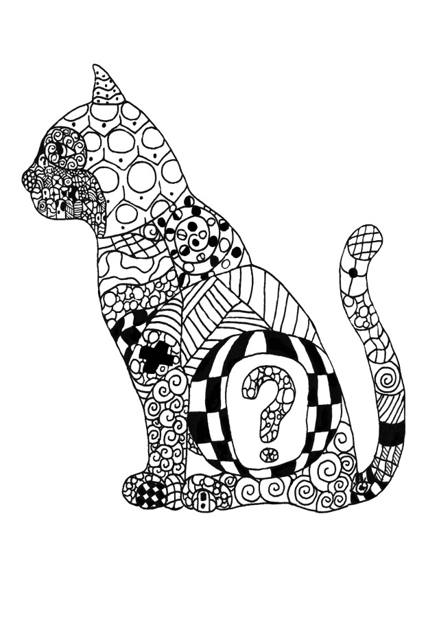 Cat Coloring Pages for Adults - Best Coloring Pages For Kids