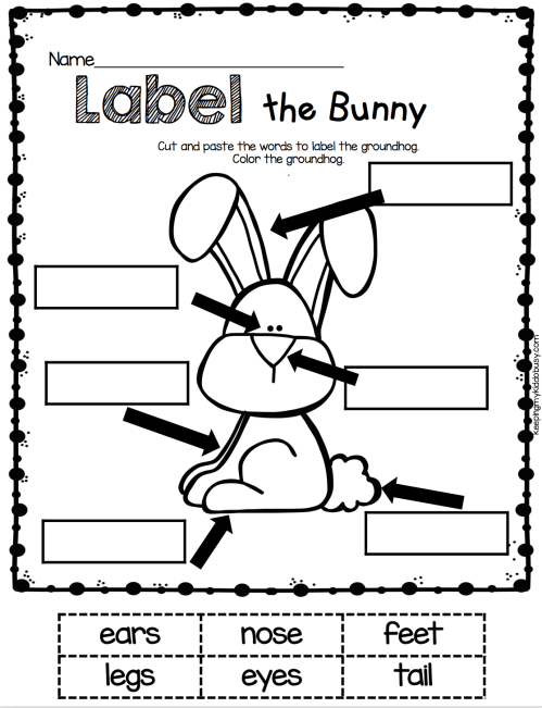 small resolution of Easter Kindergarten Worksheets - Best Coloring Pages For Kids