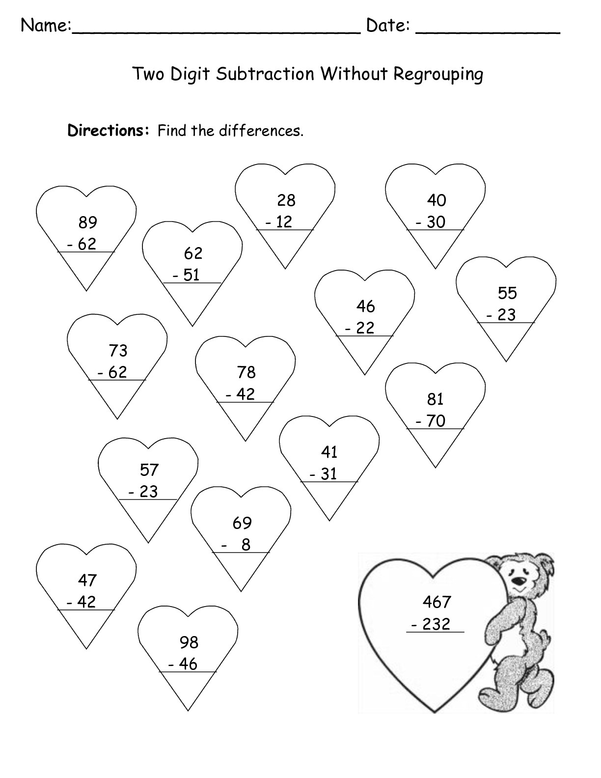 Valentine Adding Worksheet S