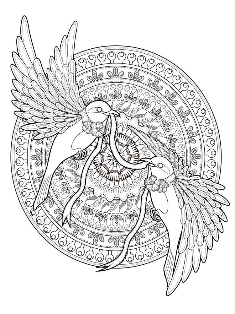 Animal Mandala Coloring Pages - Best Coloring Pages For Kids | mandala art coloring pages animals