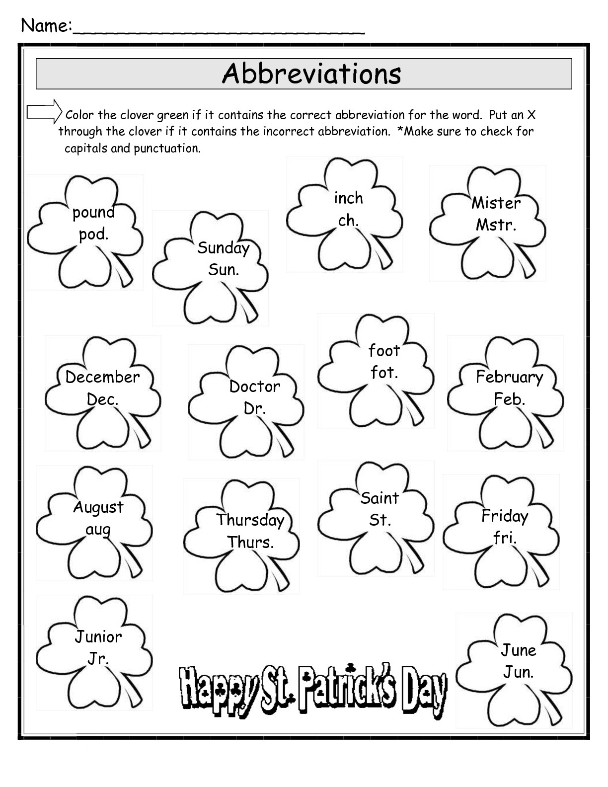 Nature Hidden Object Worksheet