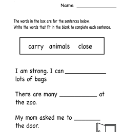 1st Grade English Worksheets - Best Coloring Pages For Kids [ 1035 x 800 Pixel ]