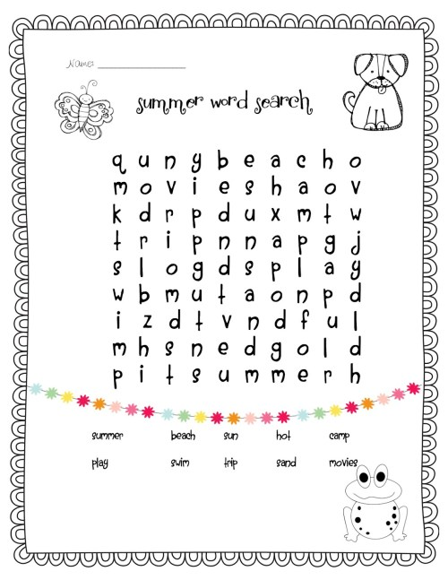 small resolution of 1st Grade Word Search - Best Coloring Pages For Kids