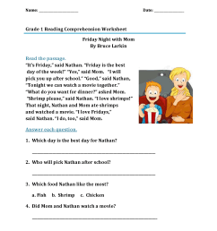 1st Grade Reading Worksheets - Best Coloring Pages For Kids [ 2200 x 1700 Pixel ]