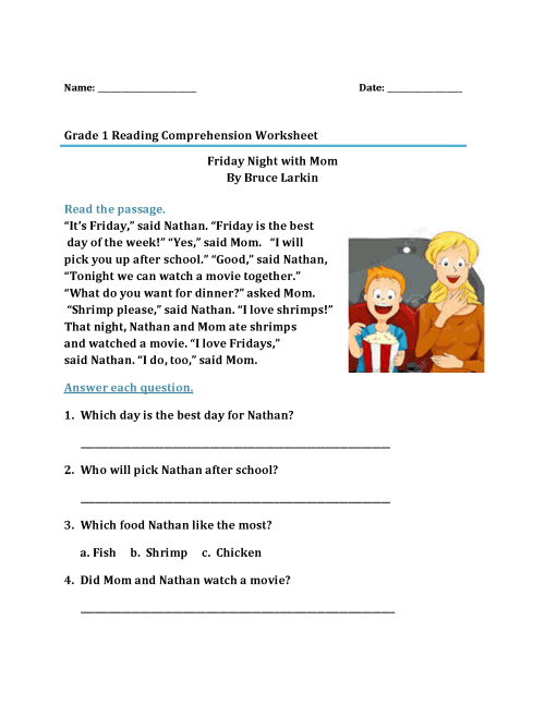 small resolution of 1st Grade Reading Worksheets - Best Coloring Pages For Kids